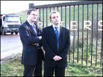 Councillors McLeod and MacBean at the landfill site