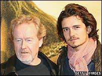 Ridley Scott and Orlando Bloom