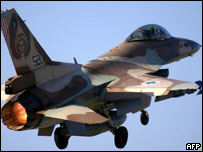 Israeli F-16 fighter taking off