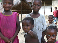 Children in Magburaka, Sierra Leone sent in by BBC News Website reader Jose Sanchez Giron Delgado