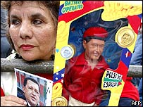 Supporter of Venezuelan President Hugo Chavez