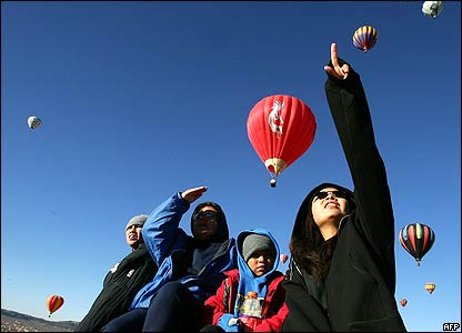 Balloon rally in New Mexico, US