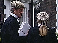 British lawyers in wigs
