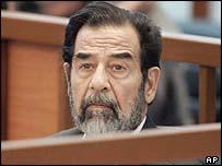Saddam in court