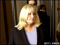 Debbie Rowe in court on Thursday, 28 April