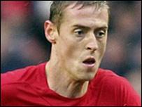 Liverpool striker Peter Crouch