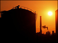 Oil refinery in California