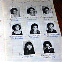 A 1967 book containing names and photos of detainees (National Security Archive)