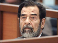 Saddam Hussein in court 5-11-2005