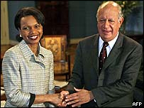 Condoleezza Rice and Ricardo Lagos