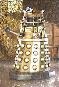 A gold-coloured, new look Dalek