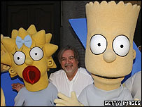 Producer Matt Groening and friends