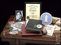 Some of Marlon Brando's personal items