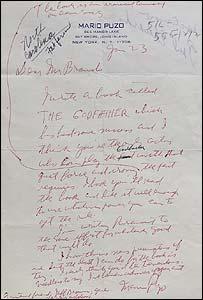 Mario Puzo's letter to Marlon Brando