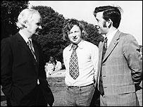 Gwynfor Evans, Dafydd Elis-Thomas a Dafydd Wigley trwy ganiatad Ken Davies