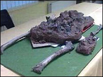 The bones of the Iron age man