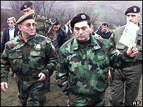 General Vladimir Lazarevic (left) and General Nebojsa Pavkovic (right)