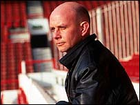 Nick Hornby at Arsenal's Highbury Stadium