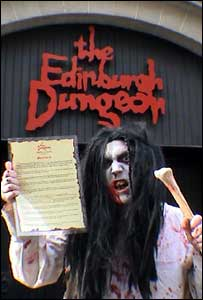 Brett Harris outside the Edinburgh Dungeon