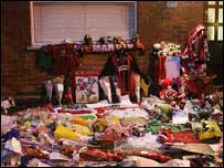 Hundreds of football shirts were left at the Best family home