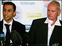 Imraan Ladak (left) and Paul Gascoigne