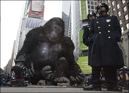 Model of King Kong in New York's Times Square