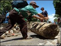 Cocaleros en Bolivia