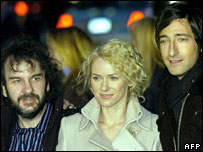 Peter Jackson, Naomi Watts and Adrien Brody at the King Kong world premiere