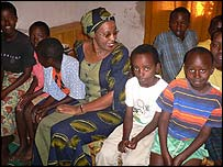 Maggie Barankitse with some of the children in her care [Picture courtesy of UNHCR]