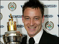 John Terry with Player of the Year award