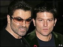 George Michael with partner Kenny Goss