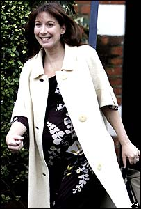 Samantha Cameron leaving her London home