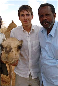 Simon Reeve with his guide Yusuf Abdi Gabobe