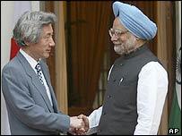 Junichiro Koizumi and Manmohan Singh