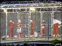 Guantanamo detainees preparing for prayers