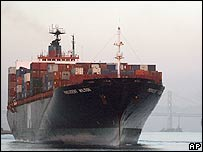 US container ship