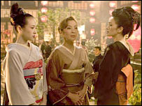 Ziyi Zhang, Michelle Yeoh and Gong Li (far right) in Memoirs of a Geisha