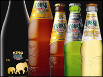 Bottles of Cobra beer