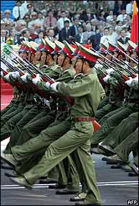 Vietnamese soldiers on a parade