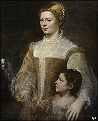 Titian's Portrait of a Lady and her Daughter