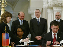 Condoleezza Rice signing bases deal