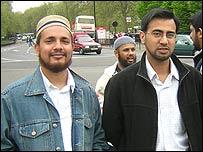 Nurul Amin (l) and Romiz Uddin (r)