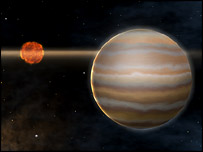 An artist's impression of the planet around the brown dwarf (Eso)