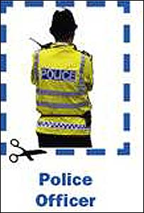 Police officer appearing in advert