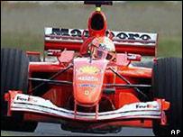 Auto de Fórmula 1.