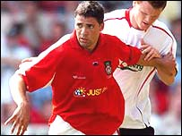 Wrexham striker Jon Walters