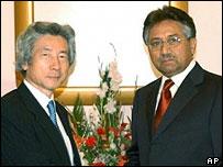 PM Koizumi and President Musharraf