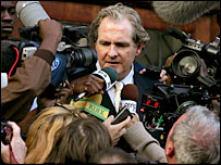 Robert Bathurst as Sir Mark Thatcher in Coup!