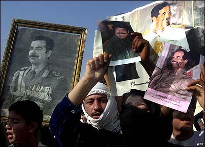 Iraqi supporters of imprisoned former leader Saddam Hussein