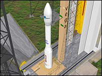 Artist's impression of Vega Rocket (ESA/J Huart)